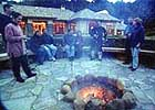 The lodge fire-pit